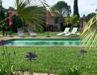 Détente autour de la piscine écologique Brin de Cocagne